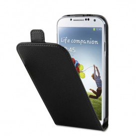 Capa de couro com tampa para Galaxy S4