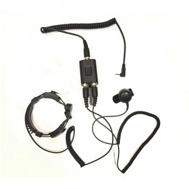 Micro-auricular laringófono versão VERTEX