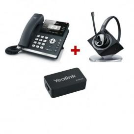 Yealink T41S + Sennheiser DW Pro 1 + Yealink EHS36