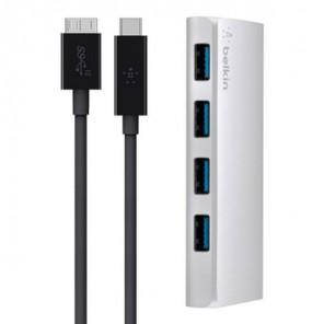 Hub 4 portas USB 3.0 + cabo USB-C Belkin