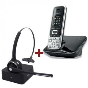 Pack Gigaset S850 + Auricular FreeVoice Nimbus II Mono