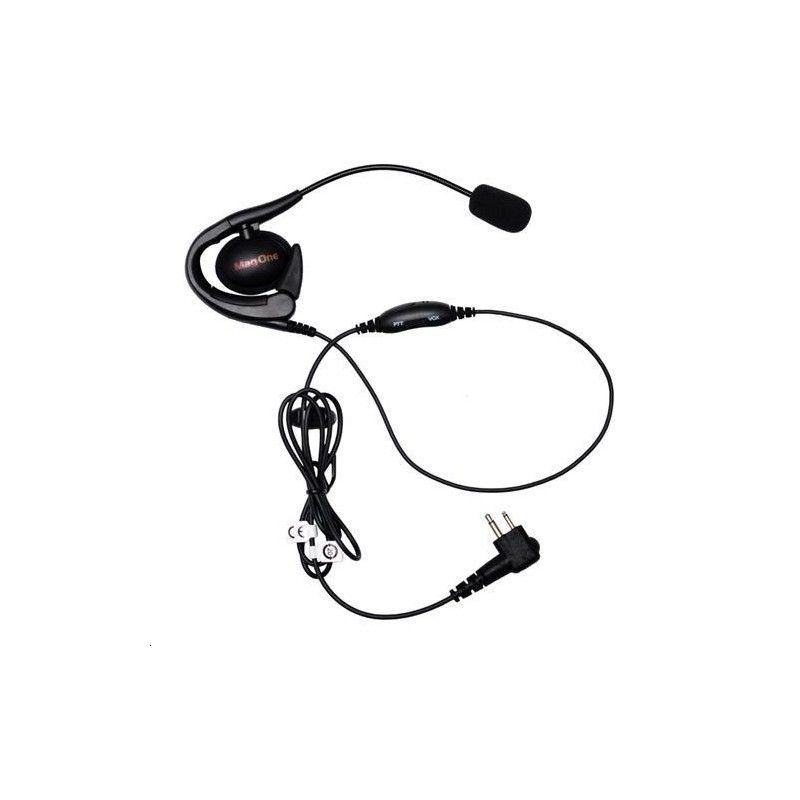 Auricular estilo contorno de orelha e microfone PTT para  DP1400