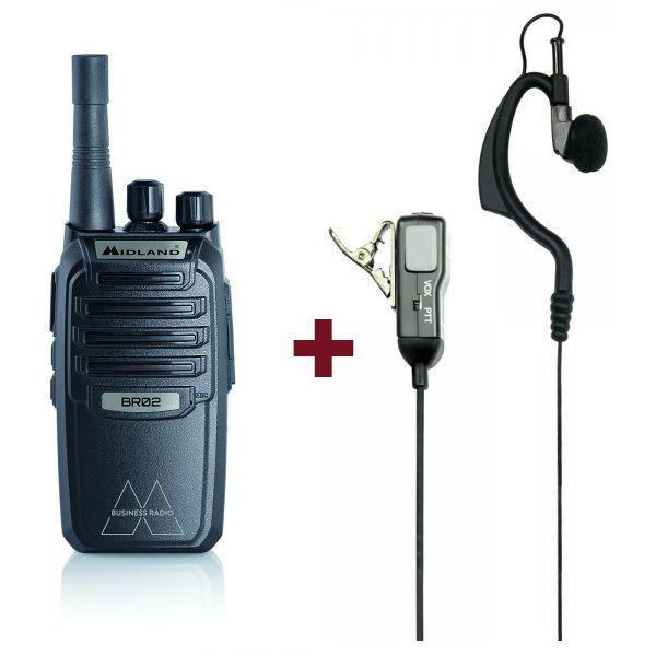 Pack Midland BR-02 com auriculares MA21LKi