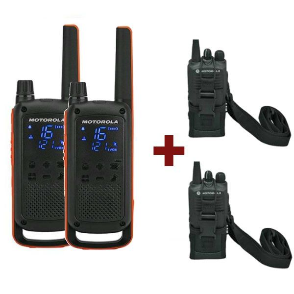 Motorola TLKR T82 + 2 Bolsas de proteção