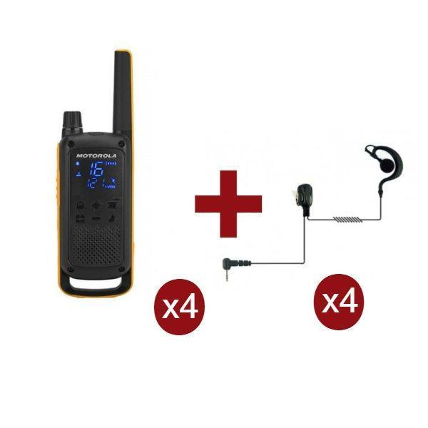 Motorola Talkabout T82 Extreme Quarteto + 4 Kits Bodyguard