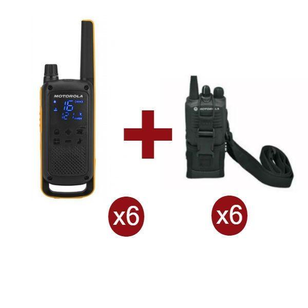 Motorola Talkabout T82 Extreme Sexteto + 6 bolsas de proteção
