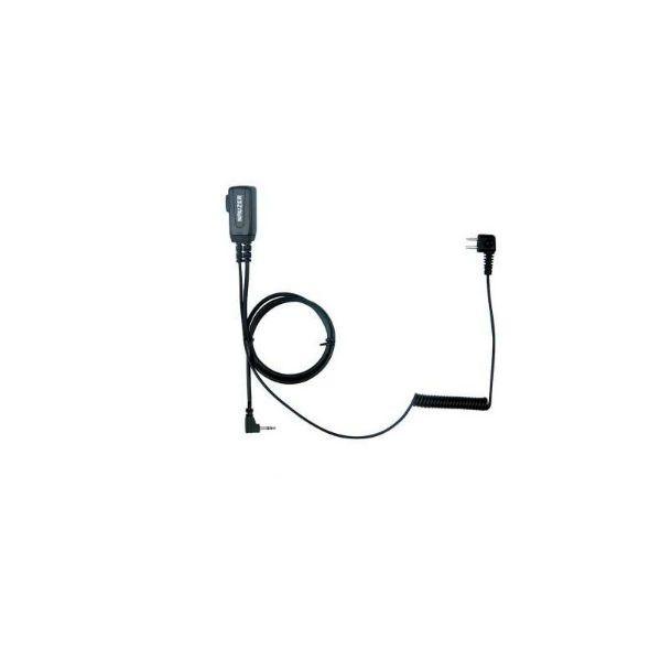 Cabo PTT para Peltor SportTac PTT32 para walkies Motorola com conector 1 pin