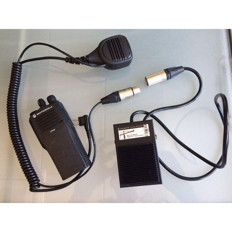 Pedal PTT para Motorola XT (conexão 2 pins)