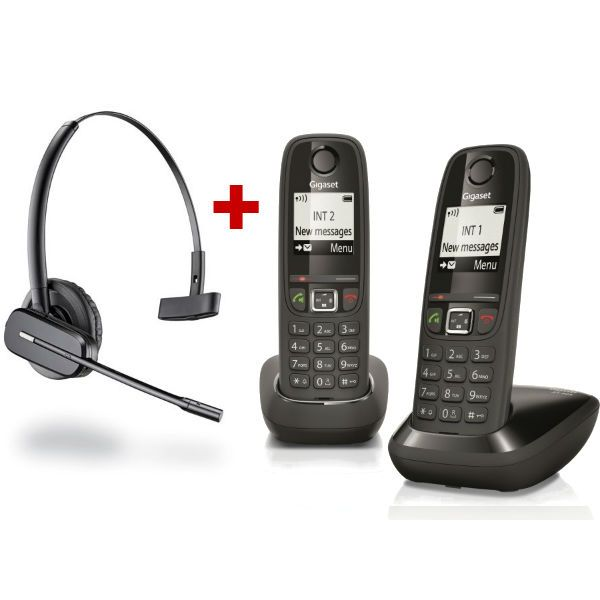Pack Duo Gigaset AS405 + Plantronics C565