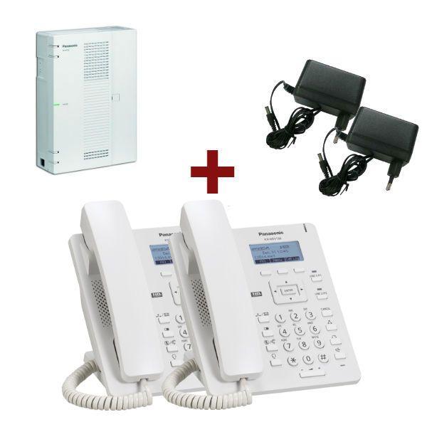 Central Panasonic KX-HTS32 + Panasonic KX-HDV130 Branco  + 2 alimentadores A423X