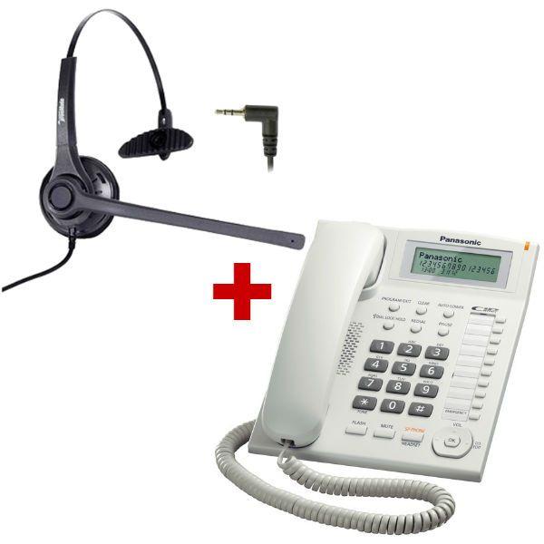 Panasonic KX-TS880 branco + auricular Freemate DH-037C
