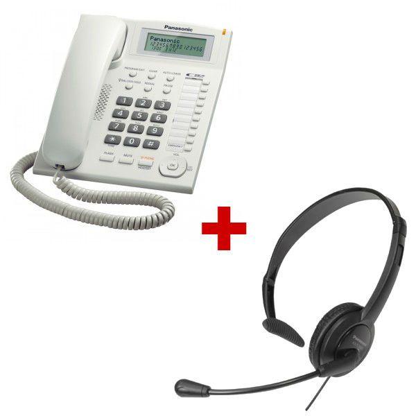 Panasonic KX-TS880 Branco + auricular Panasonic RP-TCA400