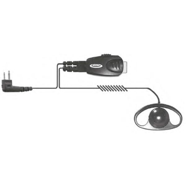 Auricular Earloop com conexão Motorola 2 pins
