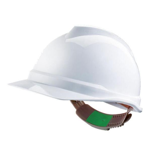 Capacete MSA V-Gard - Sem ventilação com fecho Push Key - Branco