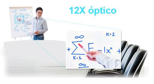 Zoom óptico 12X